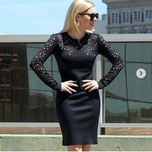 Clover Canyon Laser-Cut-Top Fitted Jersey Dress