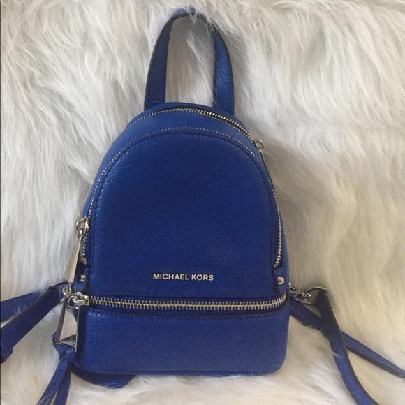 a92c03fd67 NWT Michael Kors xs rhea zip backpack