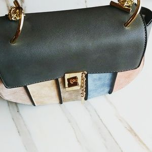 Handbags - Blush crossbody sadle bag