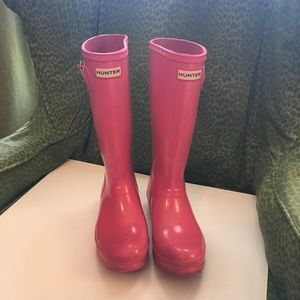 Pink Sparkly Hunter Boots