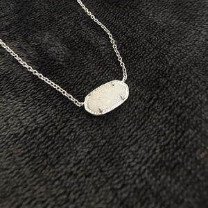 Kendra Scott iridescent silver druzy necklace