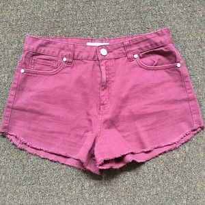 Refuge from Charlotte Russe maroon shorts size 8