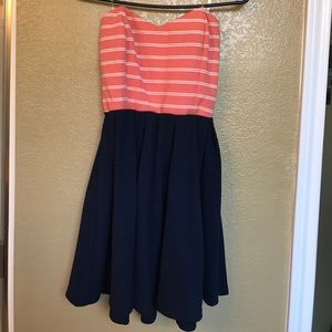 Agaci strapless dress