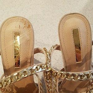 Shoes - NWOB Locked & Linked Sandal Nude Size 8.5