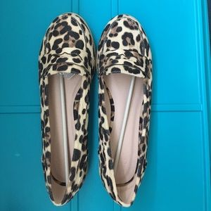 NWOT Asos Month Leopard Print Flat Shoes