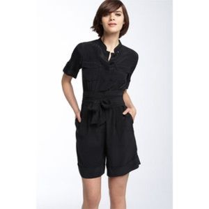 Marc by Marc Jacobs Stara Silk Black Romper