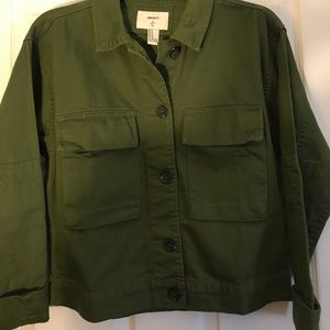 Cropped Green Utility Jacket