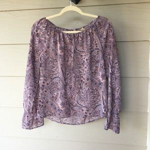 📿Purple Paisley Sheer Top by Apostrophe📿