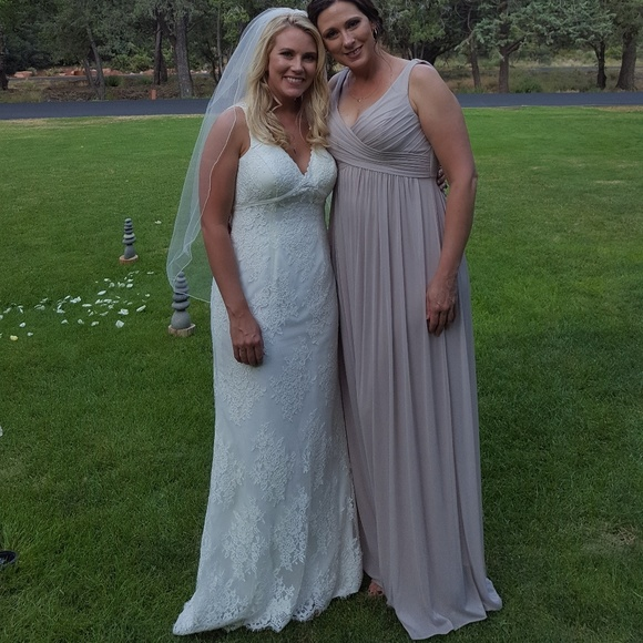 d2ace76fc91 David s Bridal Dresses   Skirts - David s Bridal F15933 Biscotti Long ...