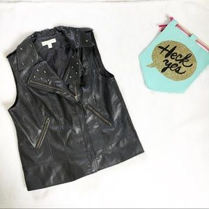 Urban outfitters vegan leather studded vest med