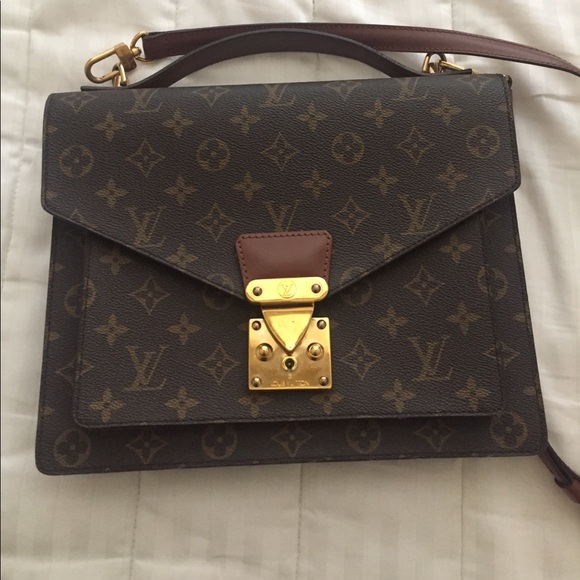 95229aad83f5 Louis Vuitton Handbags - LOUIS VUITTON Vintage Leather Monogram Monceau