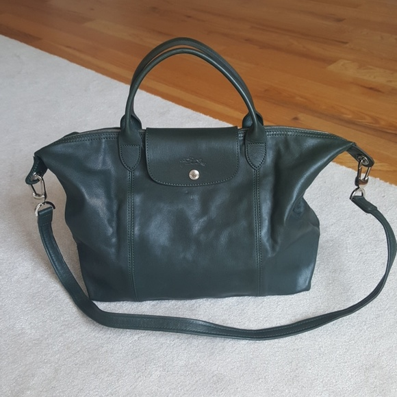 68dbe0e71c Longchamp Bags   Lonchamp Emerald Green Le Pliage Cuir   Poshmark