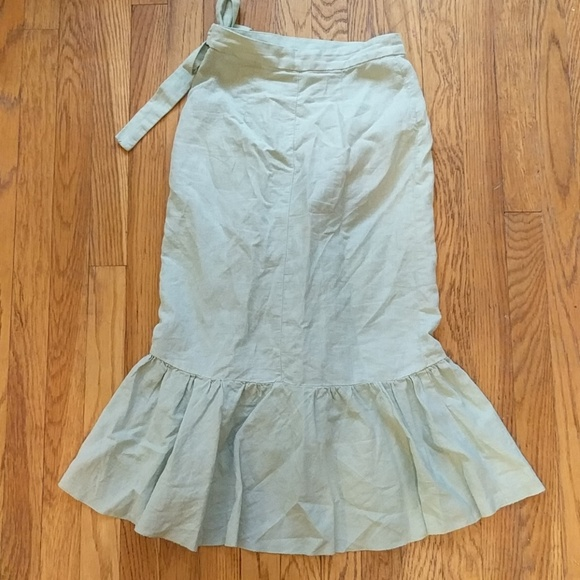zara zara wrap midi skirt with ruffles from shannon s