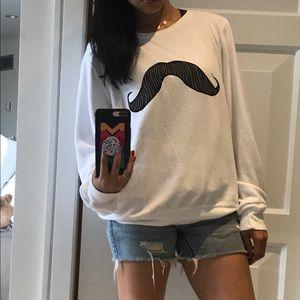 🐘Wildfox Mustachio jumper size large