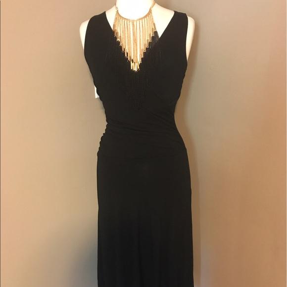 4f16da01bb CAbi Dresses | 497 Black After Five Ruched Faux Wrap Dress | Poshmark