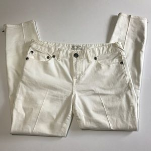 Free People Skinny White Crop Jeans Size 30