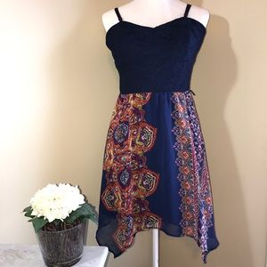 Dresses & Skirts - BLUE SUMMER DRESS SIZE L