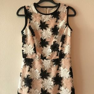 Kate spade lace pink and black dress Sz 0 LIKE NEW