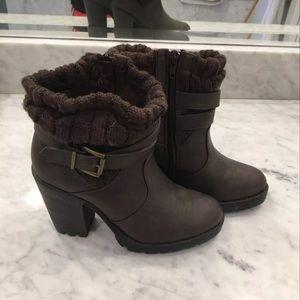 Chunky Heel Booties