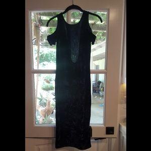 Dresses & Skirts - Deep Blue Crushed Velvet Dress