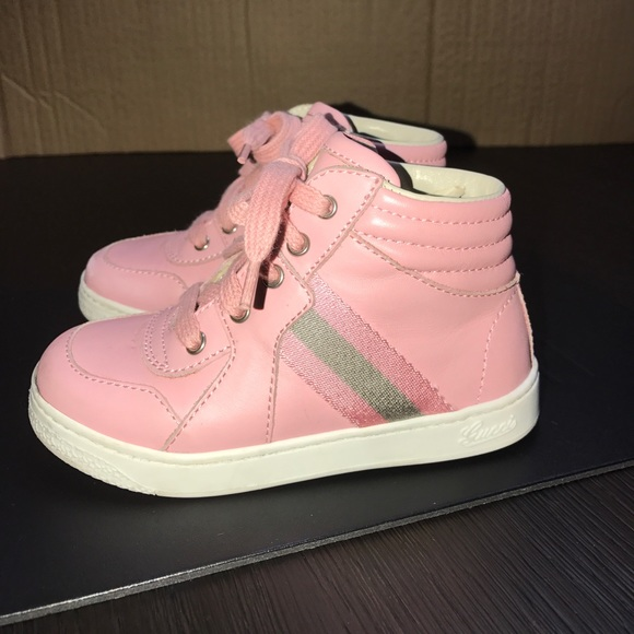 58 gucci other gucci toddler pink tennis shoes