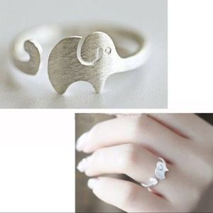 Jewelry - .925 silver adjustable elephant ring