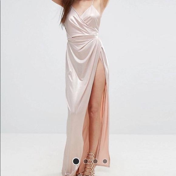 cdd79559bb5 Asos Dresses & Skirts - ASOS Slinky Lame Wrap Maxi Dress