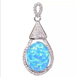 Jewelry - Just In🦋 Blue Opal & Silver Pendant 🦋