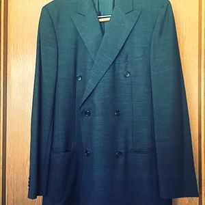 Men's double breasted Vestimenta suit jacket, used for sale