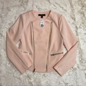 Forever 21 Futuristic Knit Motor Jacket