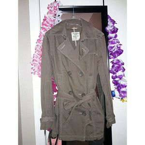 Cocoa Brown Trench Coat Jacket