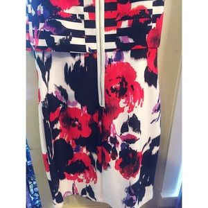 Women\'s Black And Black And White Striped Dress Macys on Poshmark