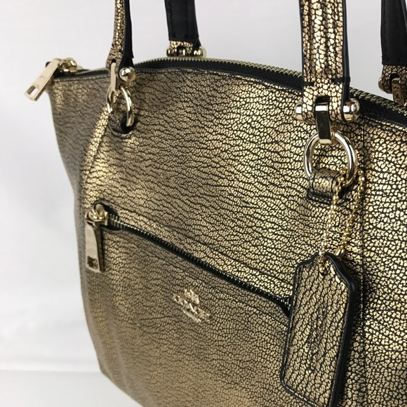 b3f2d7f1733b ... pdpImgShortDescription pdpImgShortDescription New Coach Pebble Prairie  Satchel Handbag Coach Bags - Coach Prairie Satchel in Gold Fog Pebble  Leather ...