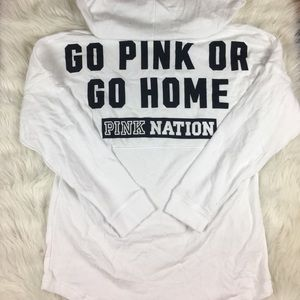 NWT Victoria's Secret PINK Nation Hooded Crew M