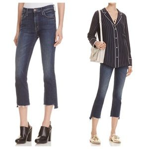 MOTHER Insider Crop Step Fray Jeans Here, Kitty