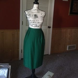 Forest Green Pencil Skirt