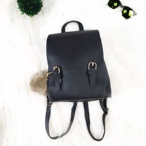 "Handbags - 🔥NEW🔥 ""Maryjane"" Black Faux Leather Backpack"
