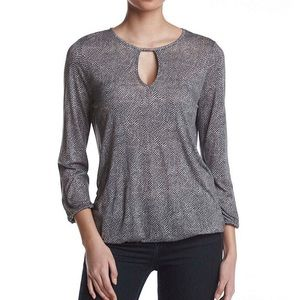 MICHAEL Michael Kors® Stingray Keyhole Peasant Top
