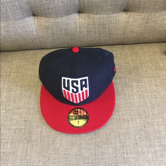 USA Soccer New Era 59Fifty Logo Fitted Hat NWT