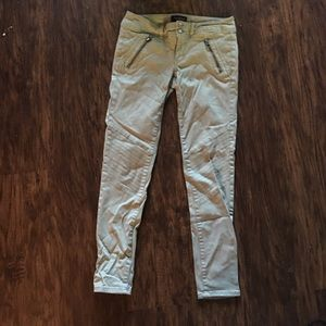 Olive green stretch pants from American eagle
