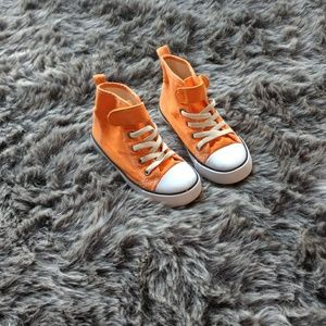 Other - H&M, kids, Ankle top converse, Shoes, Orange