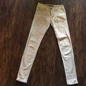 Tan skinny jeans