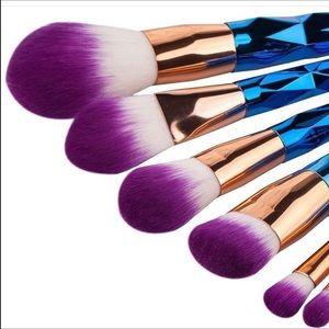 Other - 7 piece ombré unicorn makeup brushes