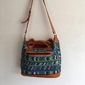Handmade One of a Kind Huipil Bag