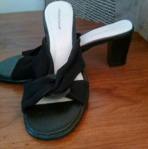 Predictions strapless sandals.