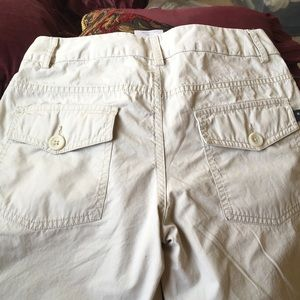 HURLEY COTTON Khaki LONG SHORTS front back pockets