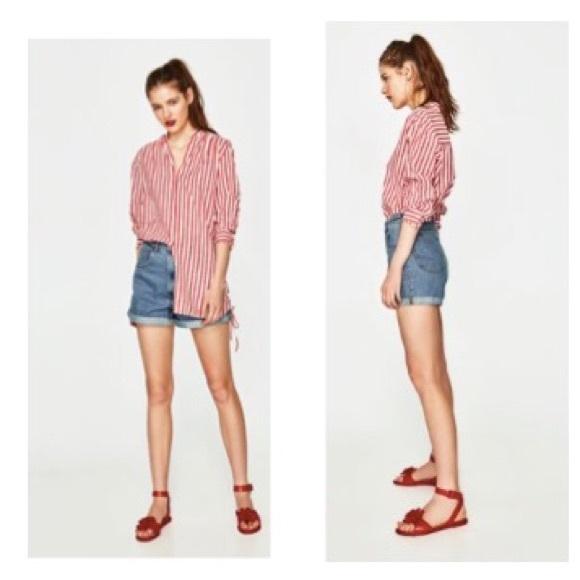 552e23d3 Zara Shorts | High Waisted Mom Fit Jean Short Nwt | Poshmark