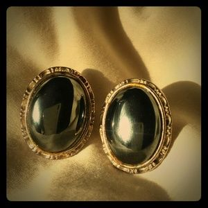 Jewelry - Victorian black and silver antique earrings.