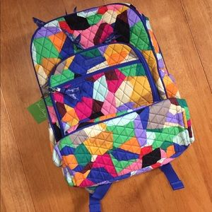 Vera Bradley Campus Tech Backpack Bag Pop Art