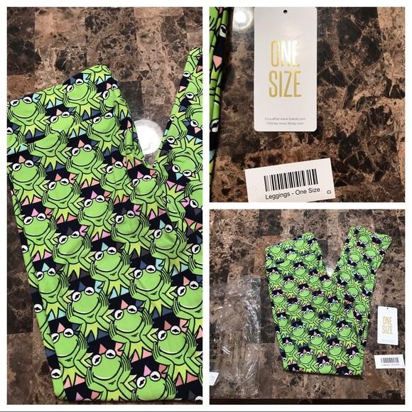 15836e84fcd9b7 LuLaRoe Pants   Disney Kermit The Frog Leggings In Os   Poshmark
